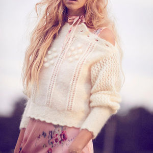LoveShackFancy Sweaters - Special$ LOVESHACKFANCY PersephoneSweater Cream L